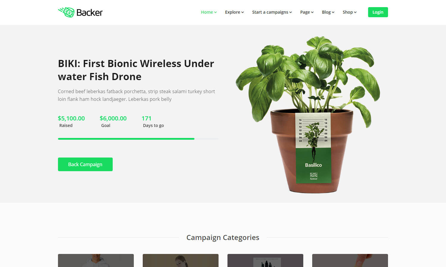 Backer screenshot