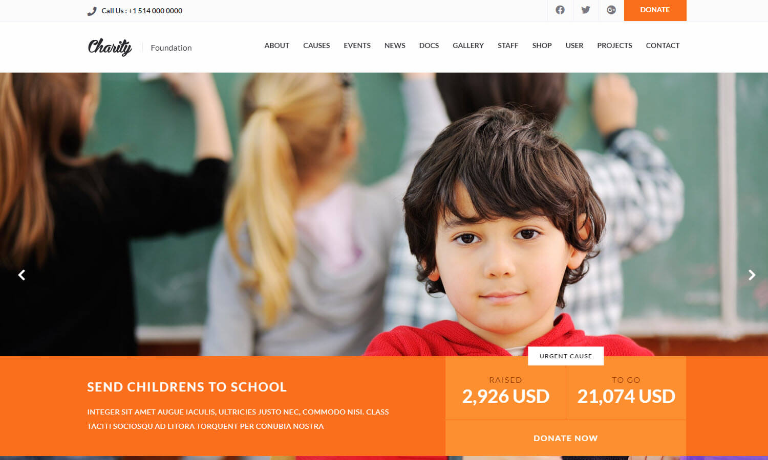 Charity screenshot