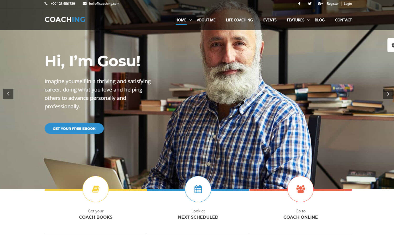 Coaching WP screenshot