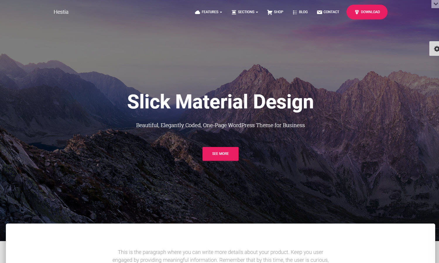Hestia screenshot
