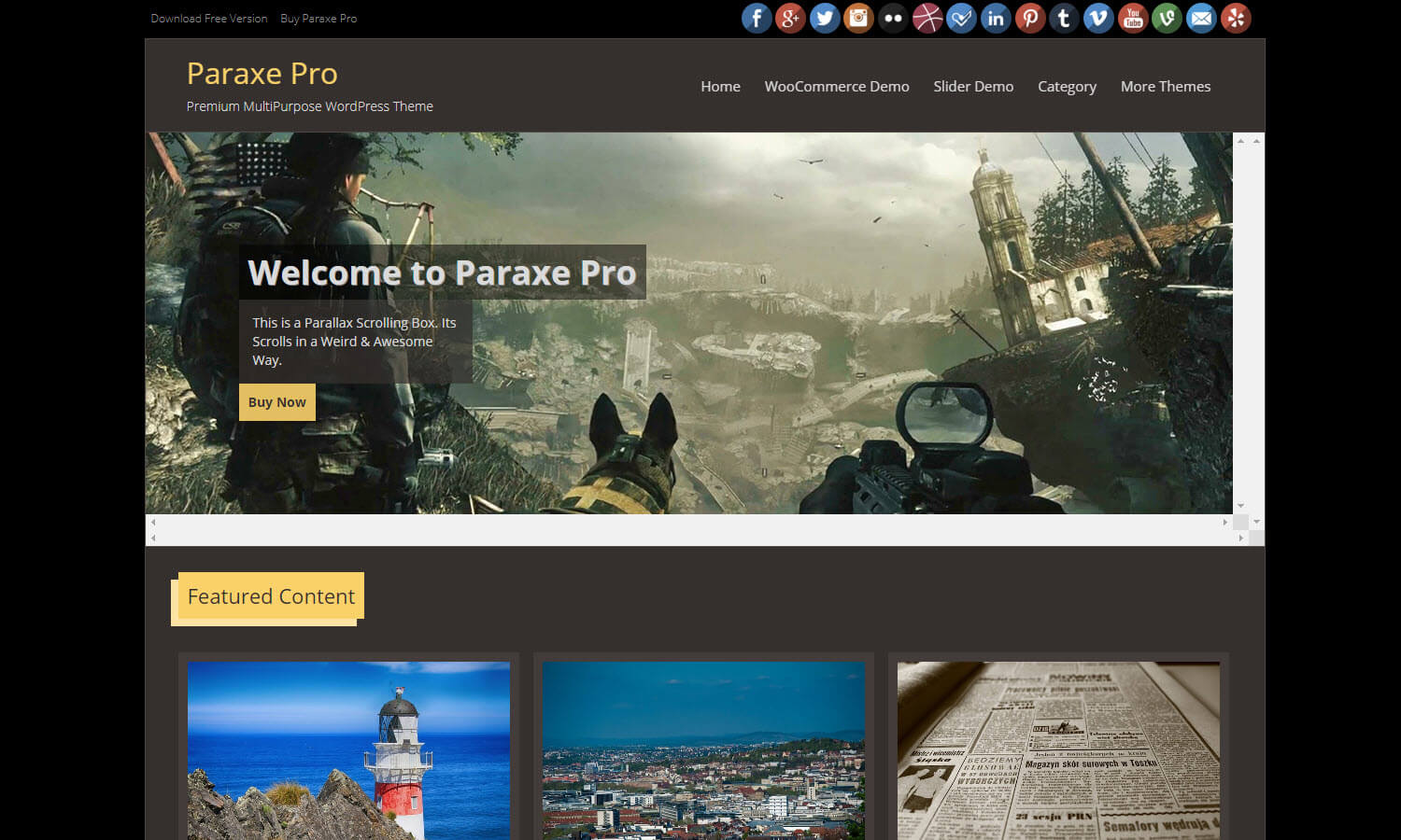 Paraxe screenshot