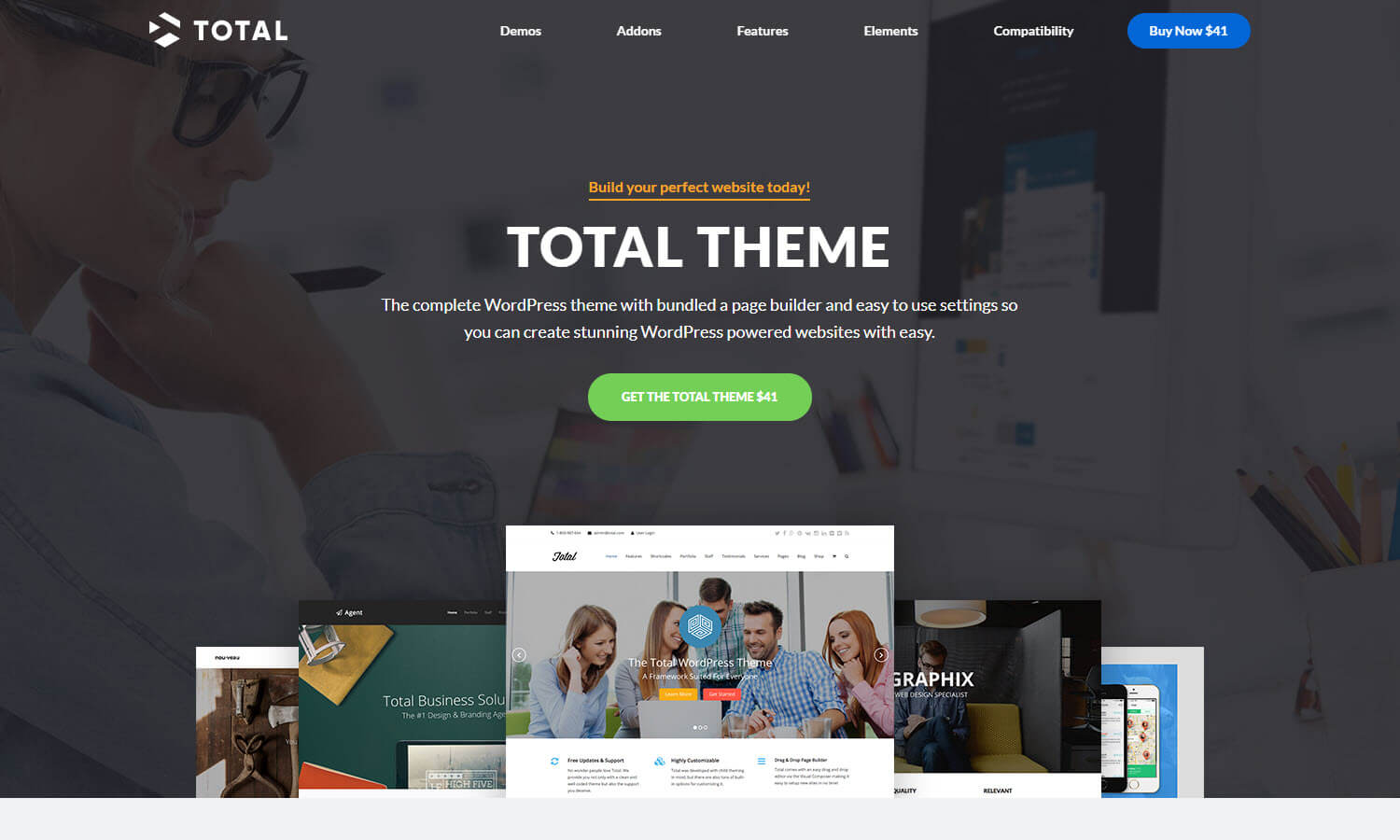 Total Theme screenshot