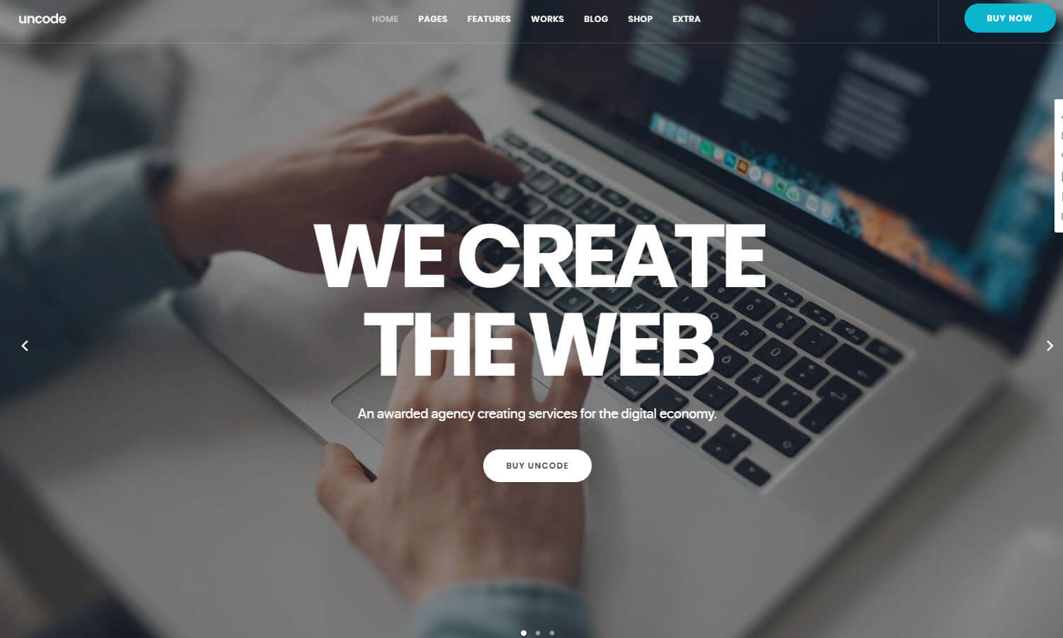 Uncode screenshot