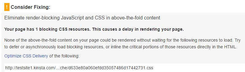 Eliminer renderings-blokerende JavaScript