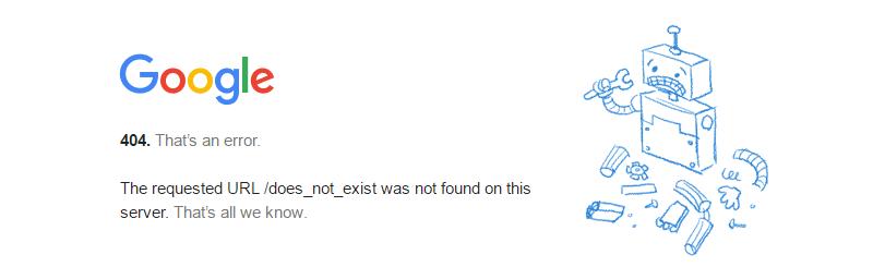 Google 404 HTTP-status code