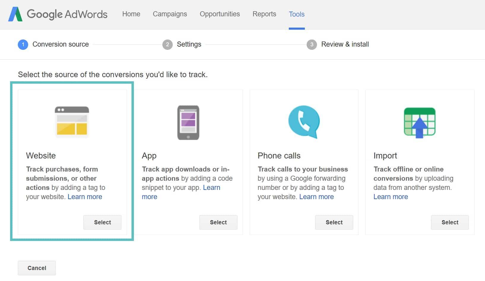 AdWords-websitekonvertering