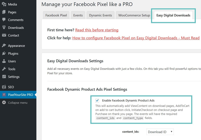 Easy Digital Downloads konverteringspixel