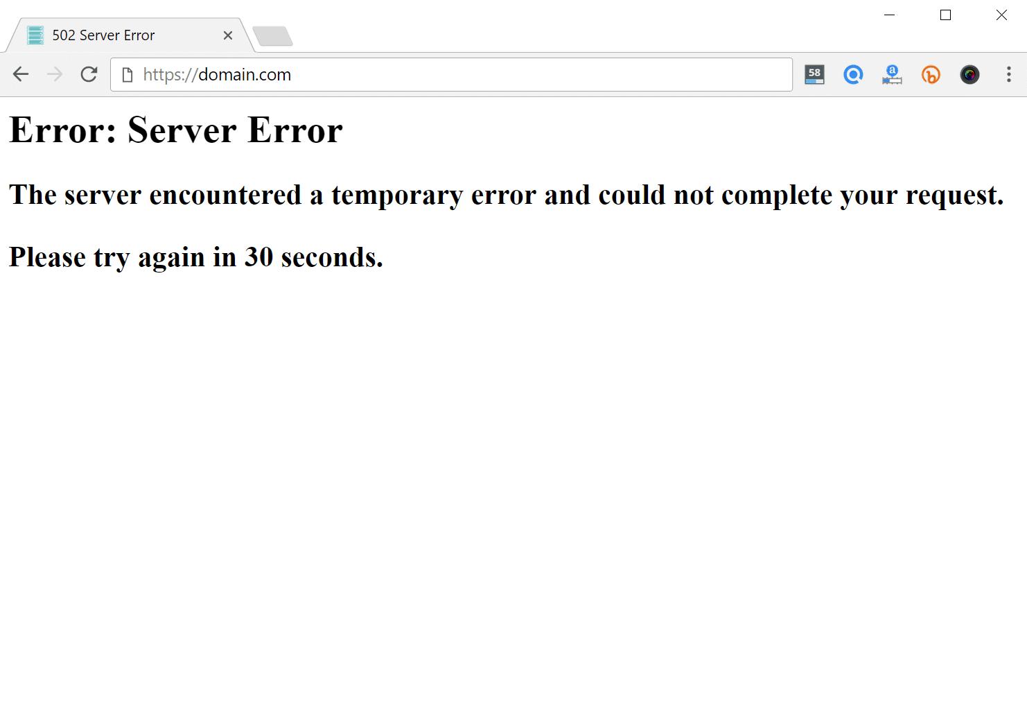 502 serverfejl i browser