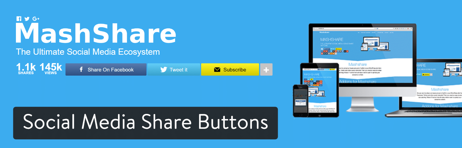 Social Media Share-knapper WordPress plugin