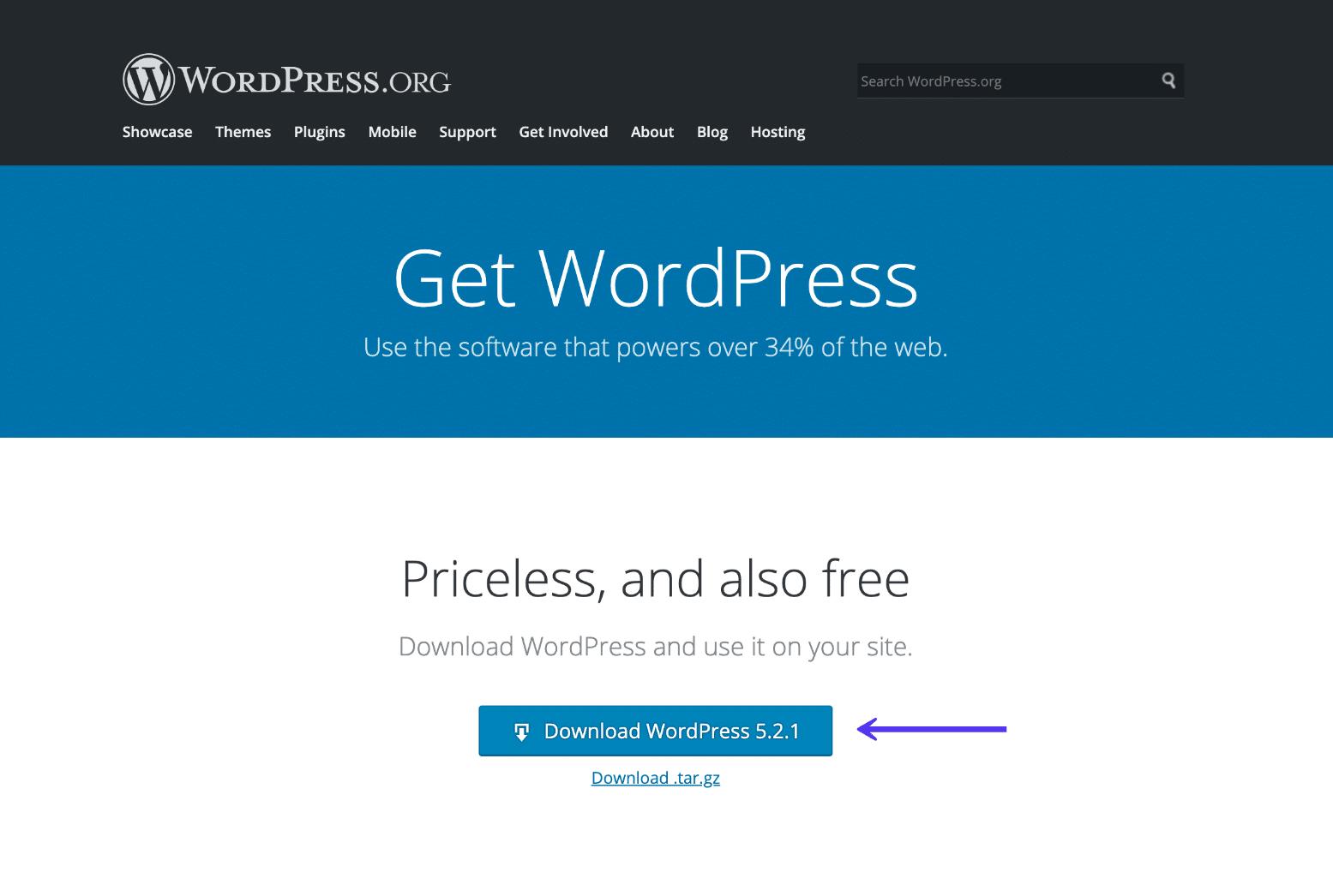 Download den nyeste version af WordPress