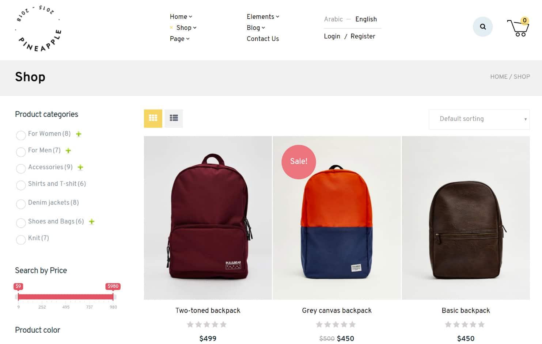 WordPress eCommerce butik
