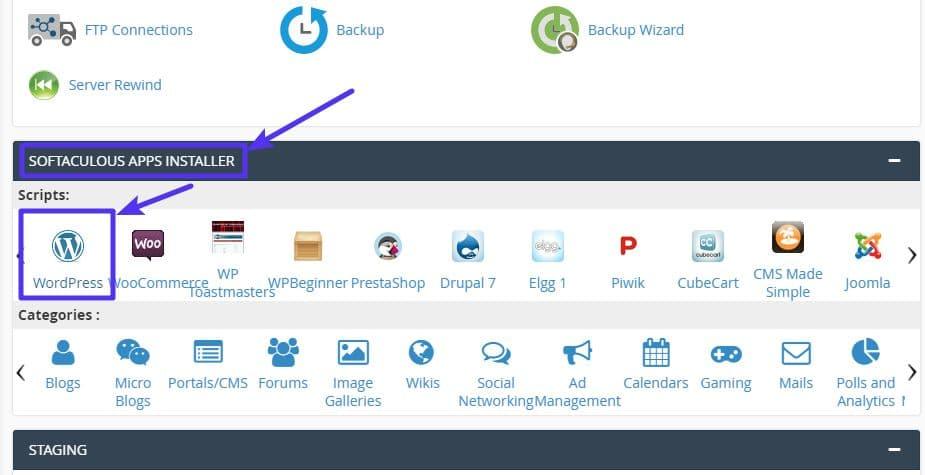 Sådan installeres WordPress med cPanel