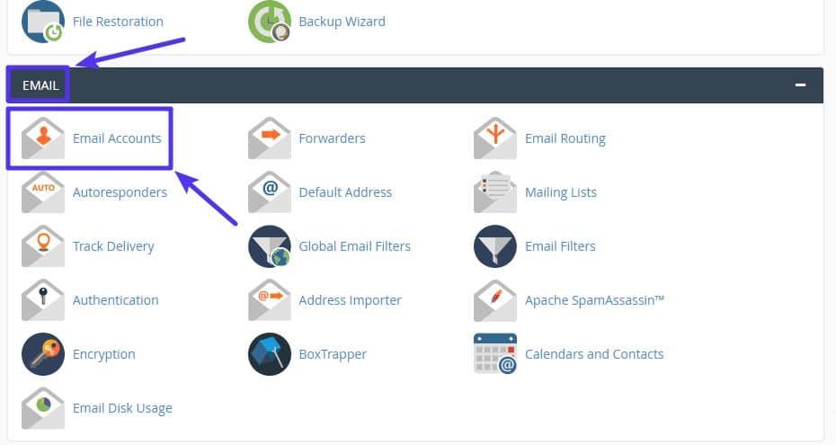 Sådan opretter du en e-mail-konto med cPanel
