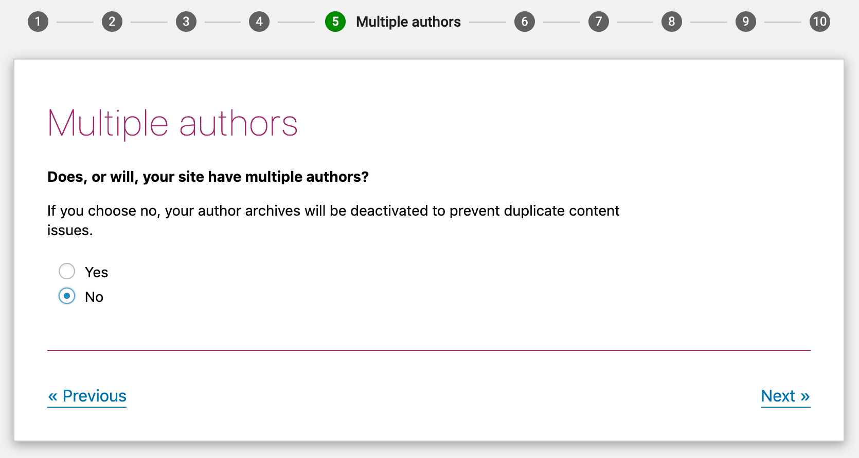 Vælg om du vil have en eller flere forfattere