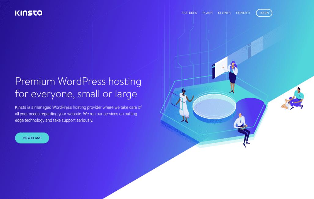 Kinsta hjemmeside
