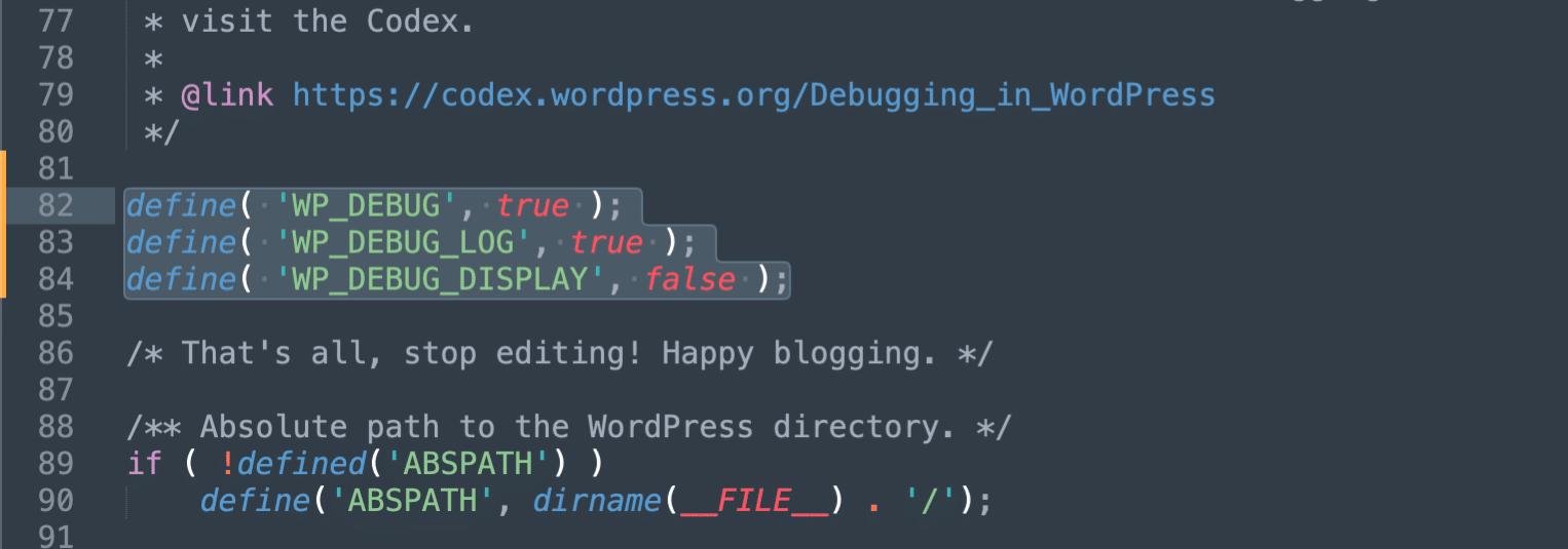 Aktivér debug logging i WordPress