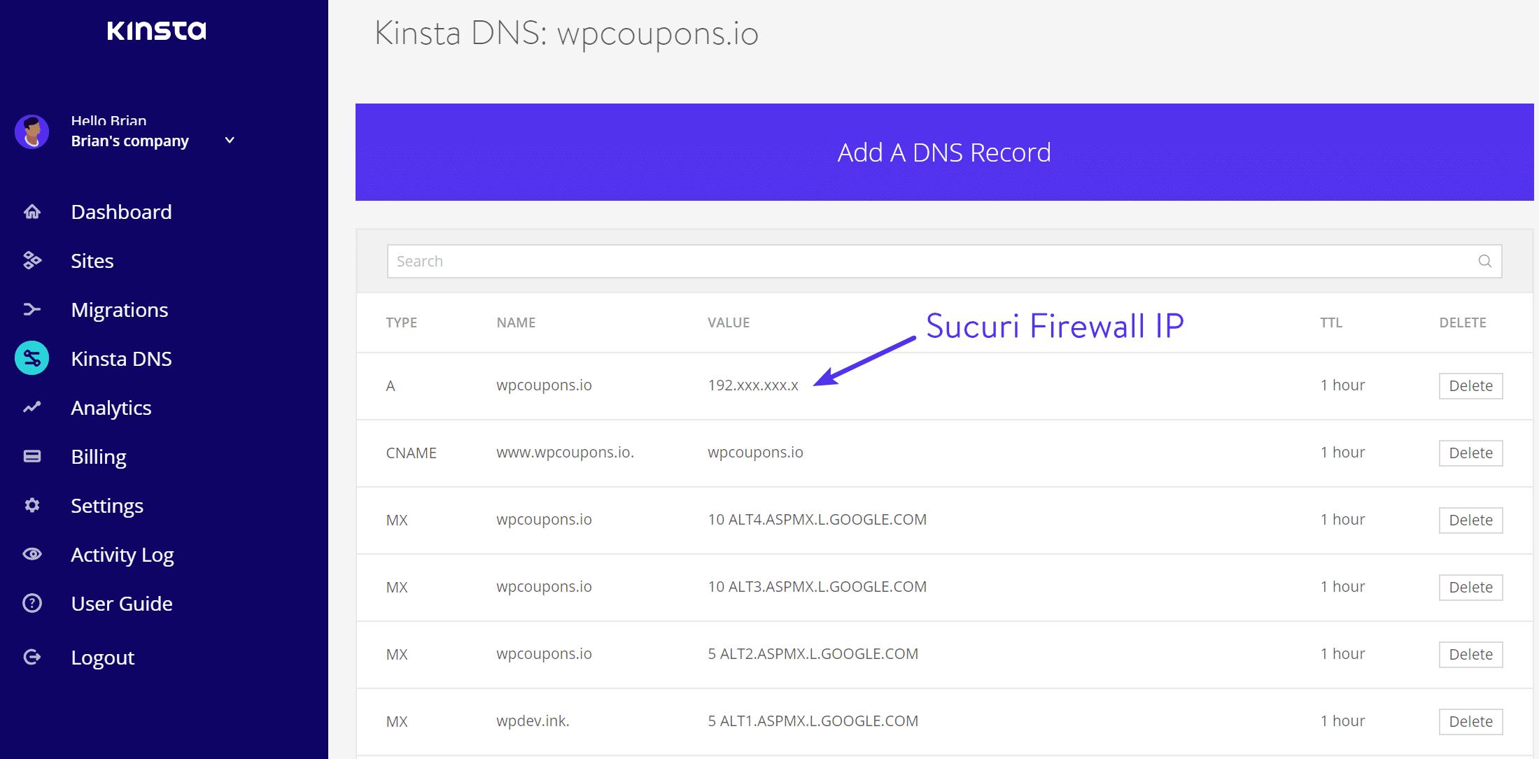 Sucuri Firewall IP