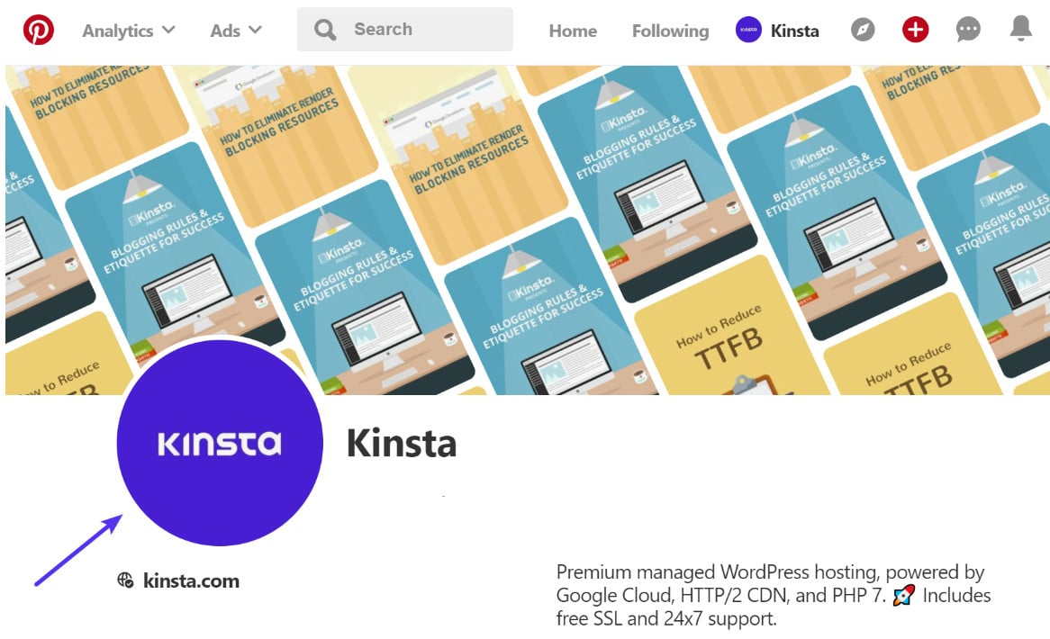 Pinterest profilbillede