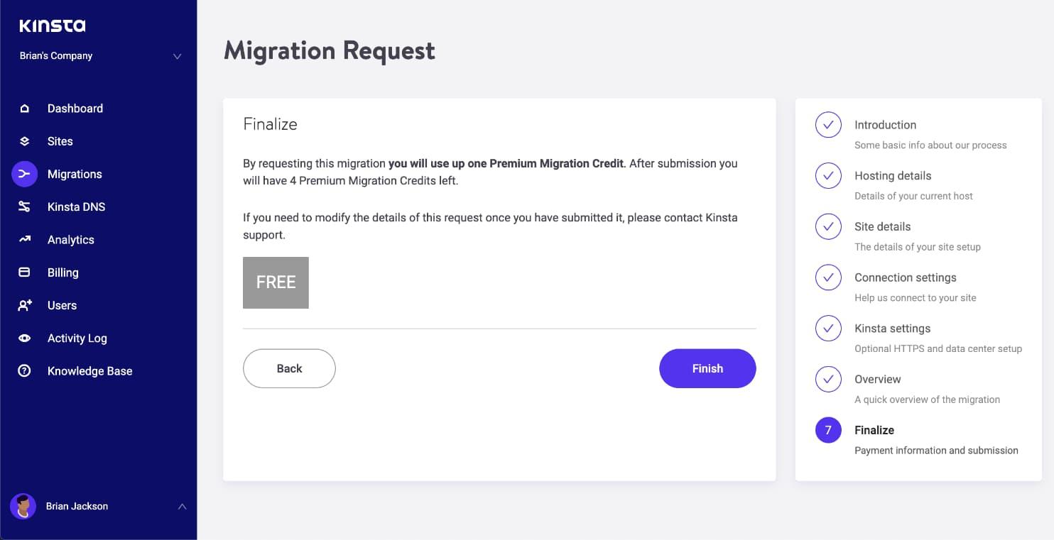 Færdiggør migreringen