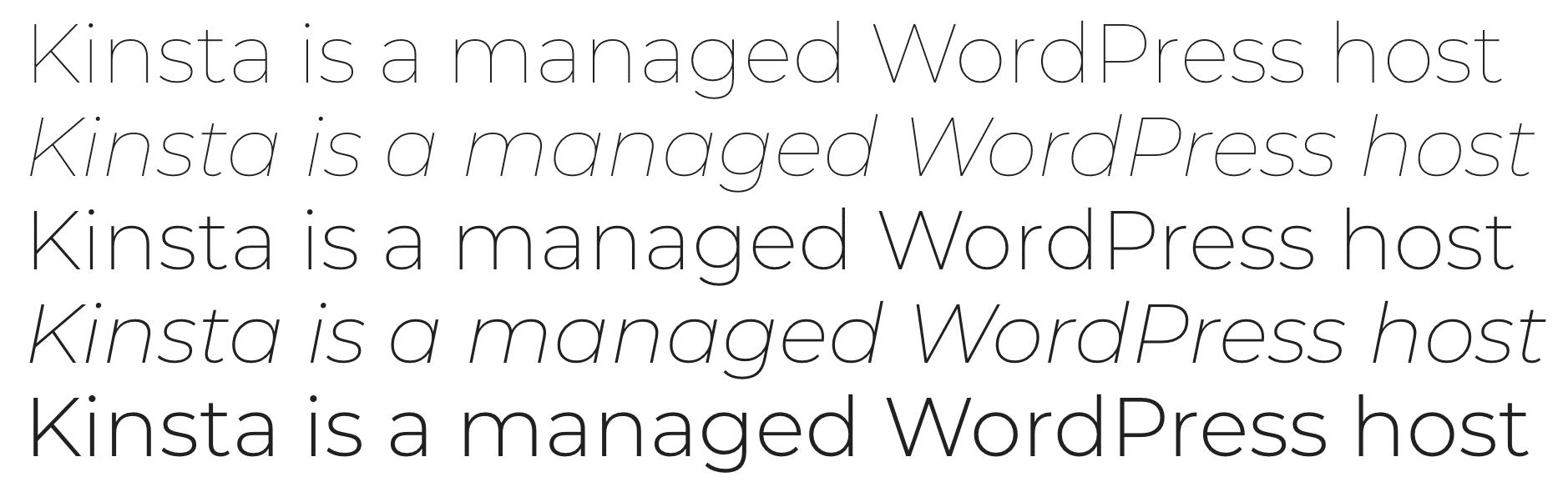 Montserrat Google font