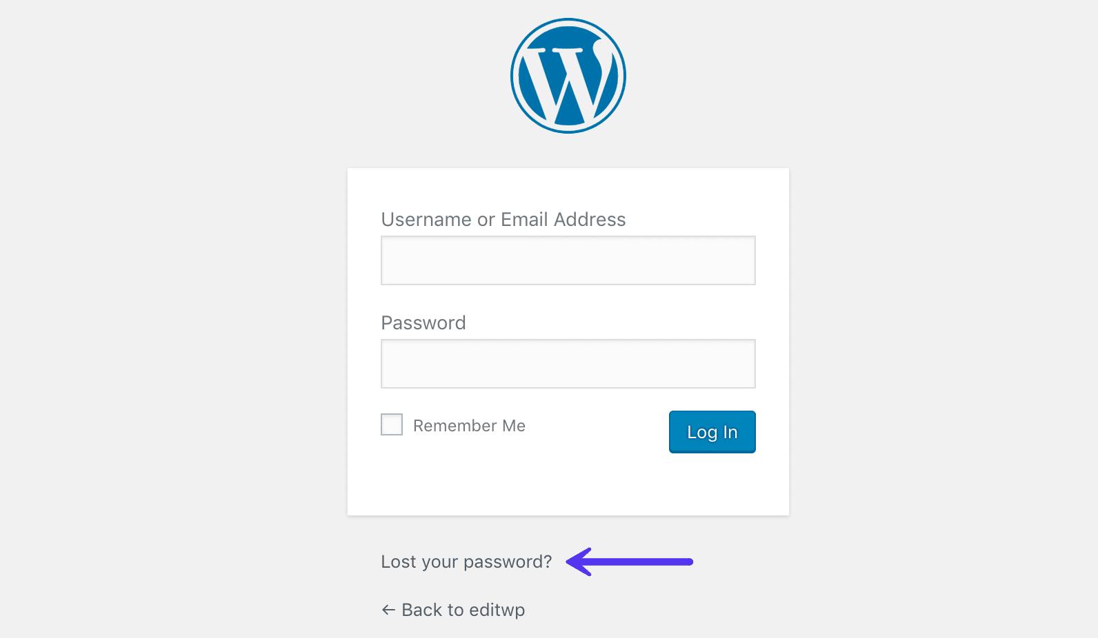 Mistet dit password