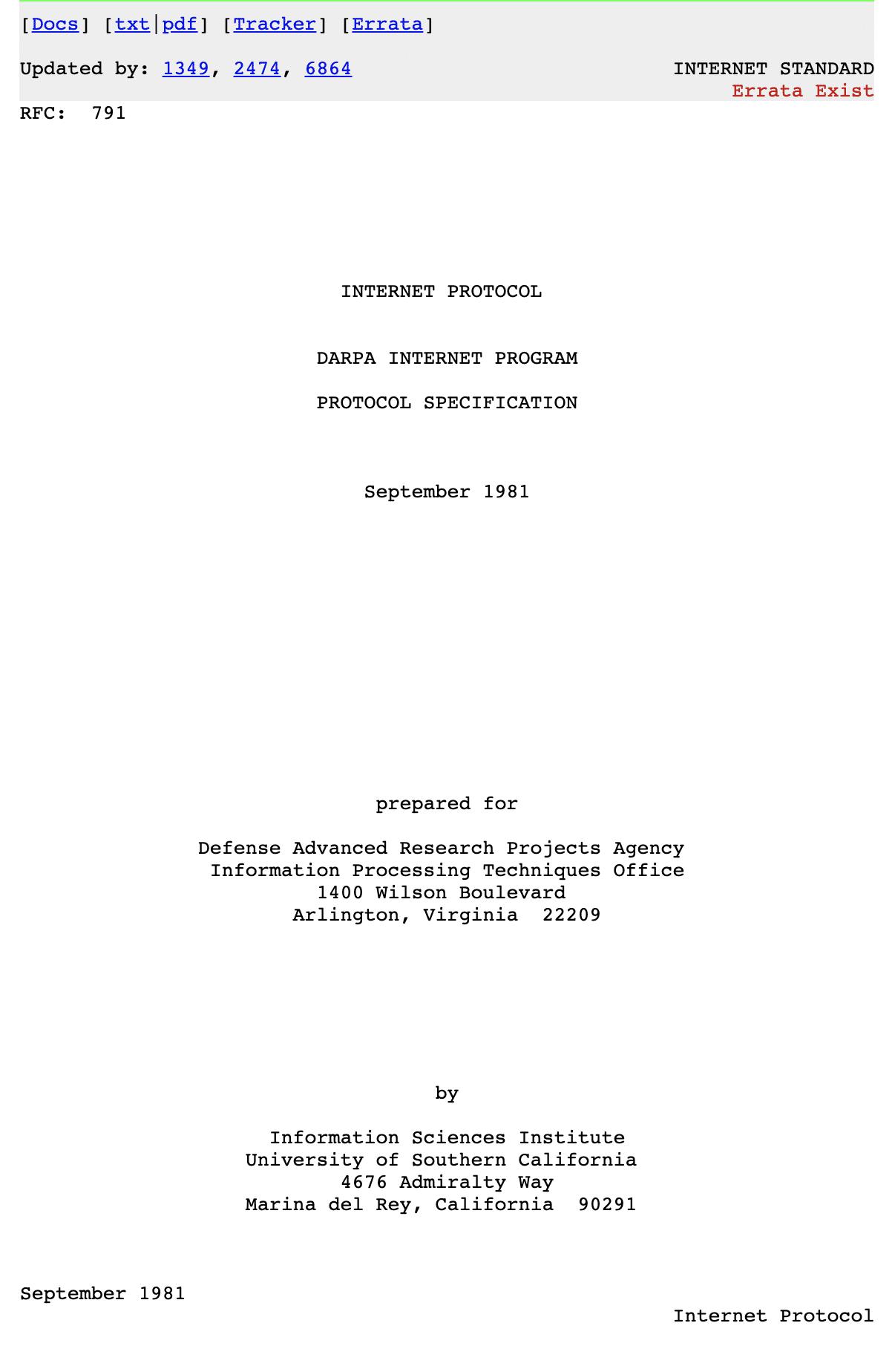 Internet Protokol (RFC791)