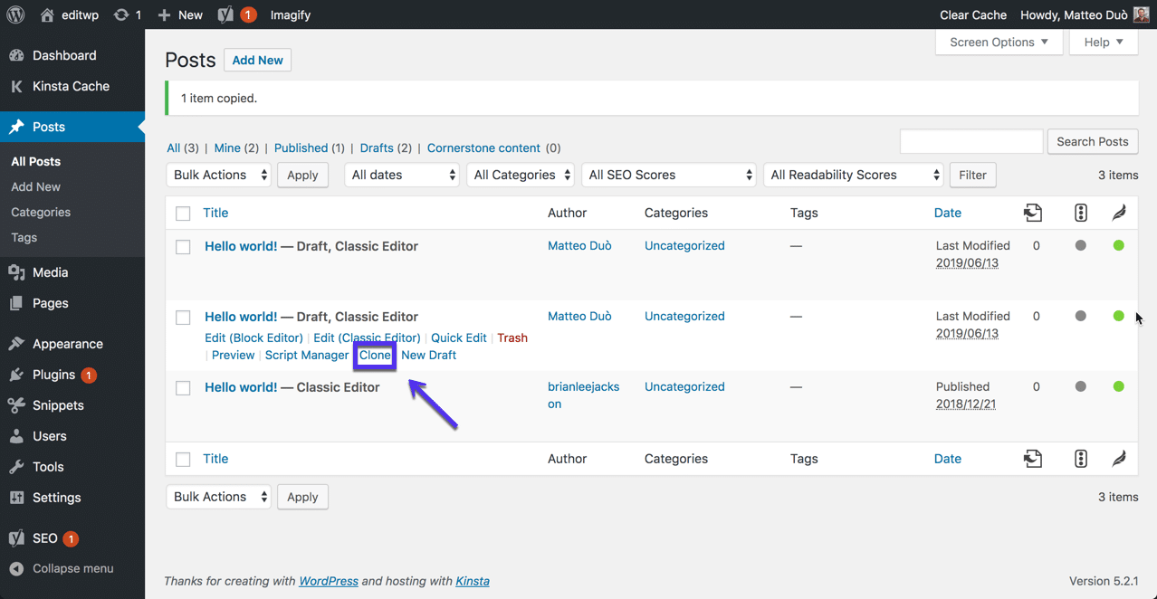 Pluginet Duplicate Post