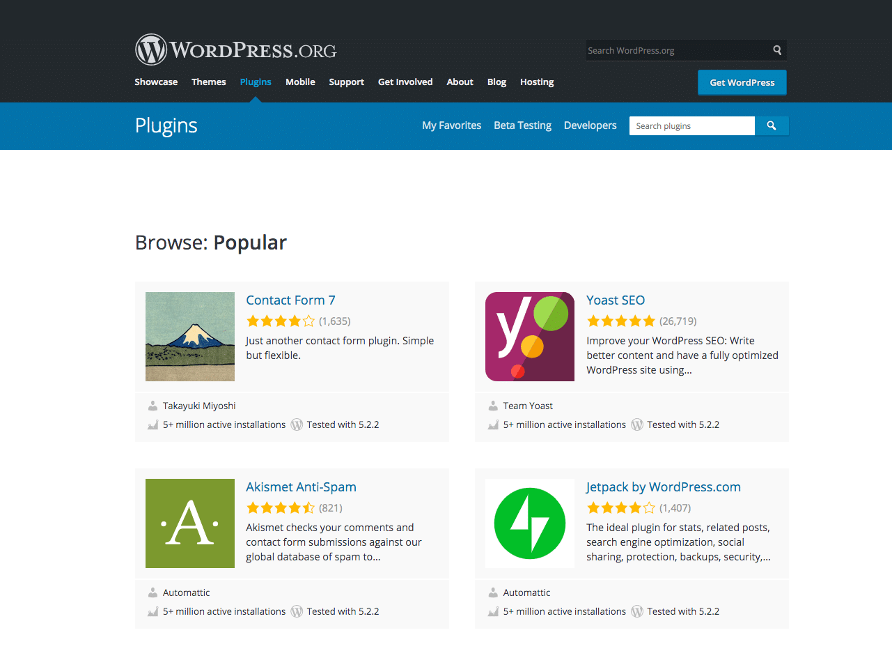 WordPress-arkivet