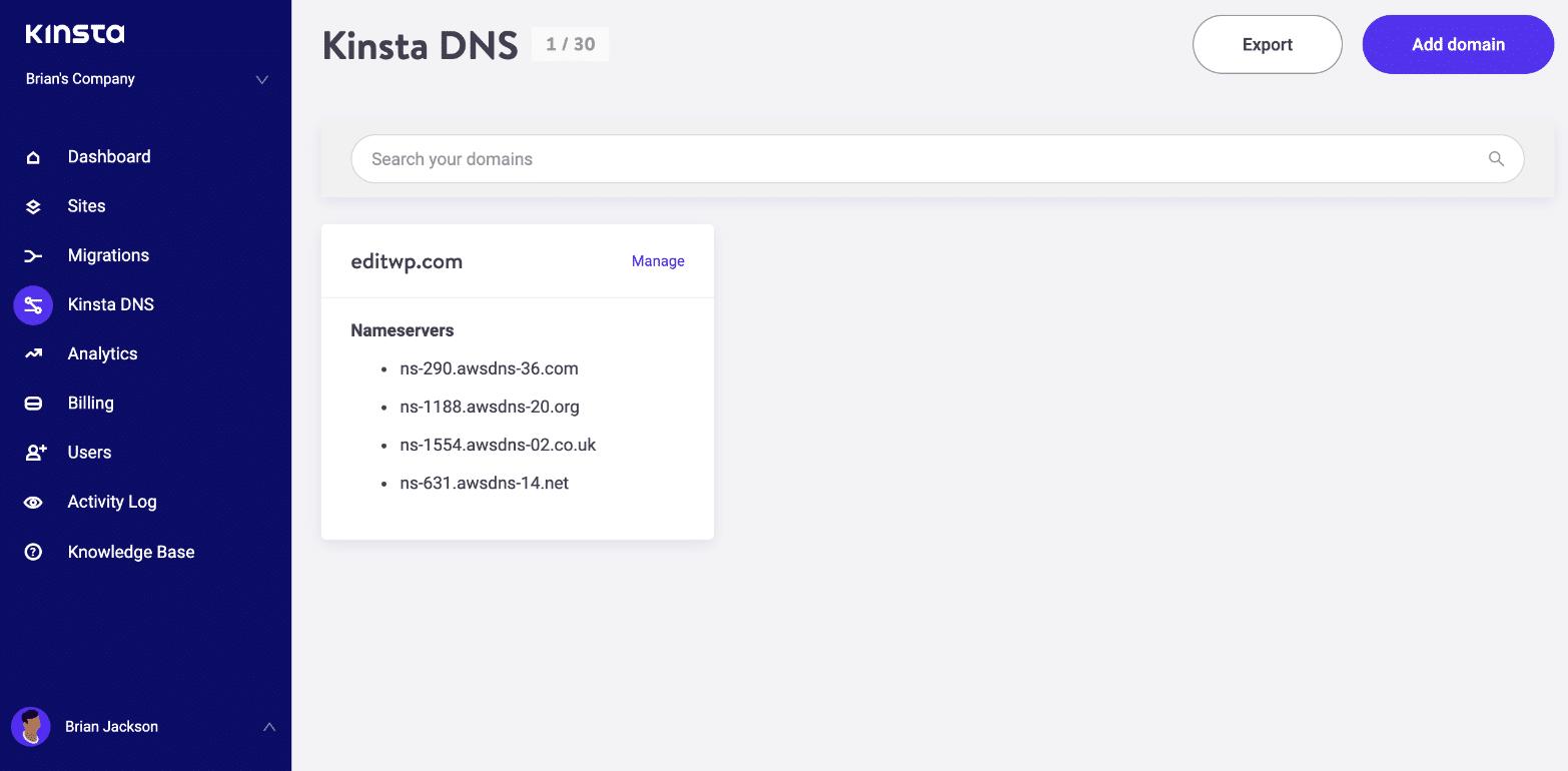 Kinsta DNS - Amazon Route 53
