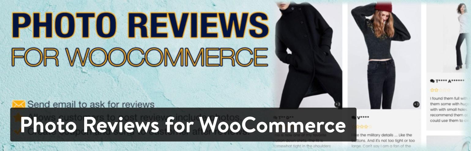 Bedste WordPress anmeldelse plugin: Photo Review for WooCommerce
