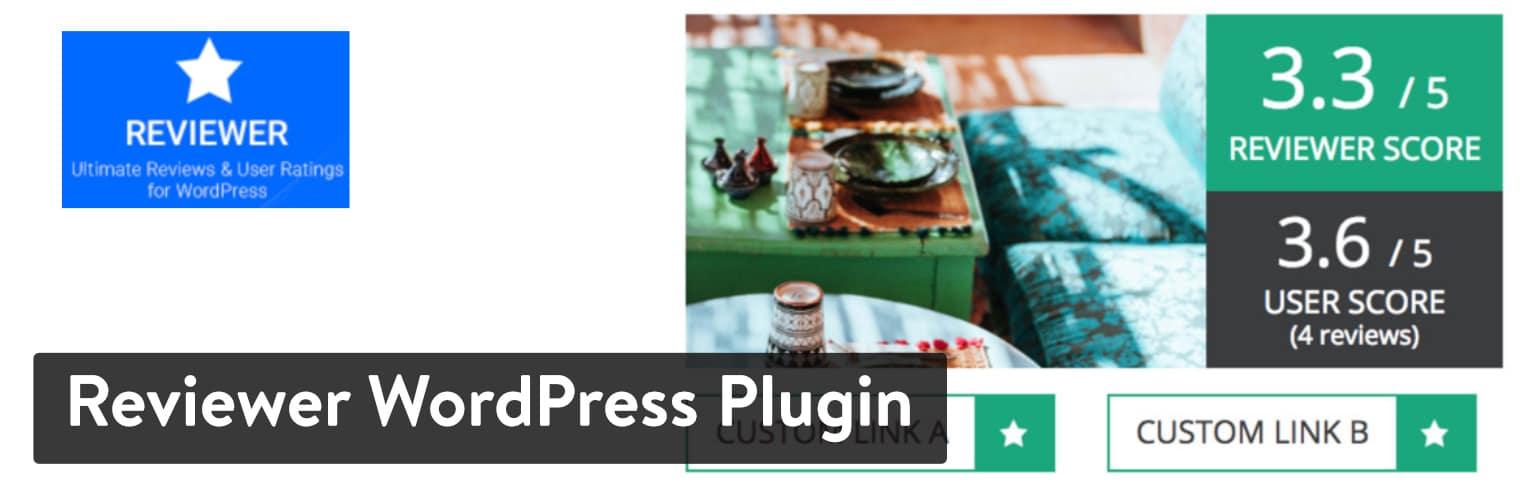 Bedste WordPress anmeldelse plugins: Reviewer WordPress Plugin