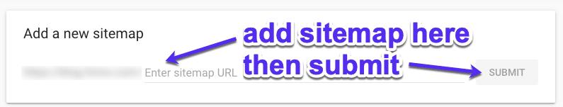 Føj dit sitemap tilGoogle Search Console