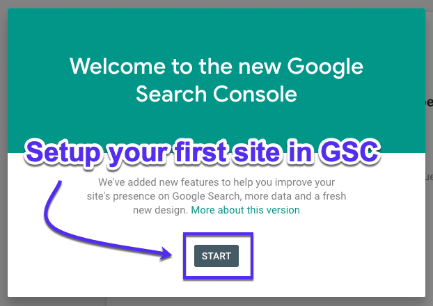 Konfigurer dit websted i Google Search Console