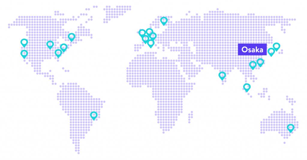 20. datacenter i Osaka, Japan er nu tilgængeligt