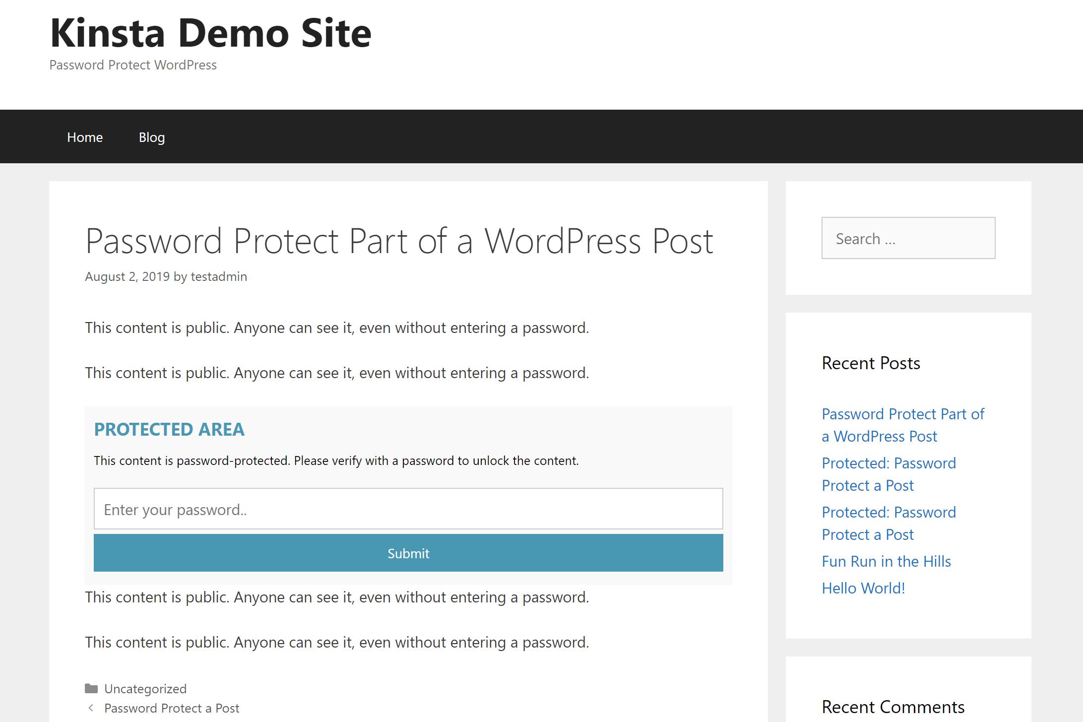Passster login-formularen