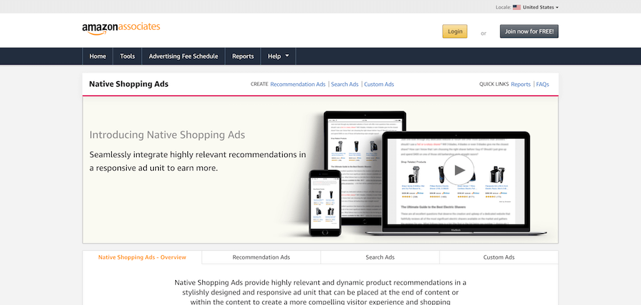 Amazon Native Shopping-annoncer
