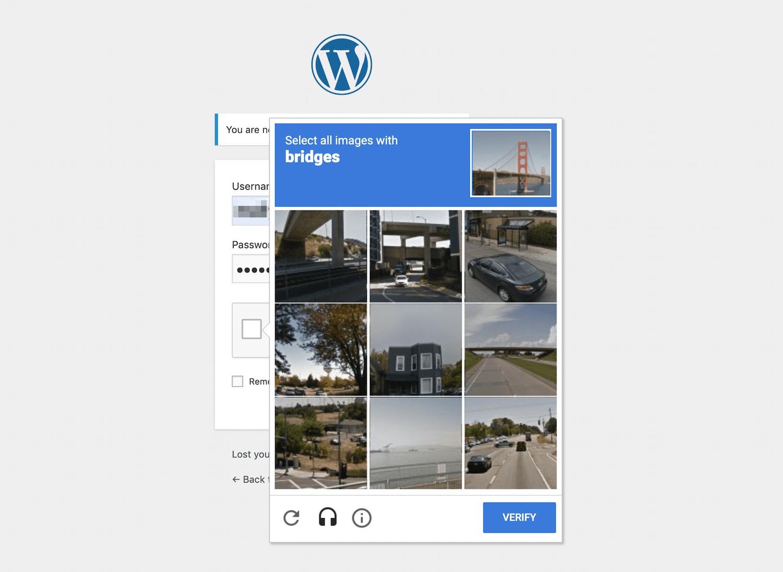 Eksempel på et billede CAPTCHA