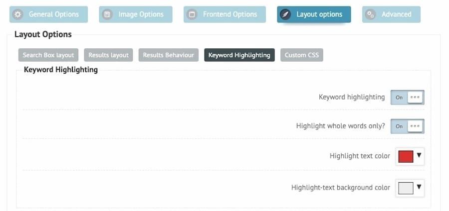 Ajax Search-plugin: markering af keywords