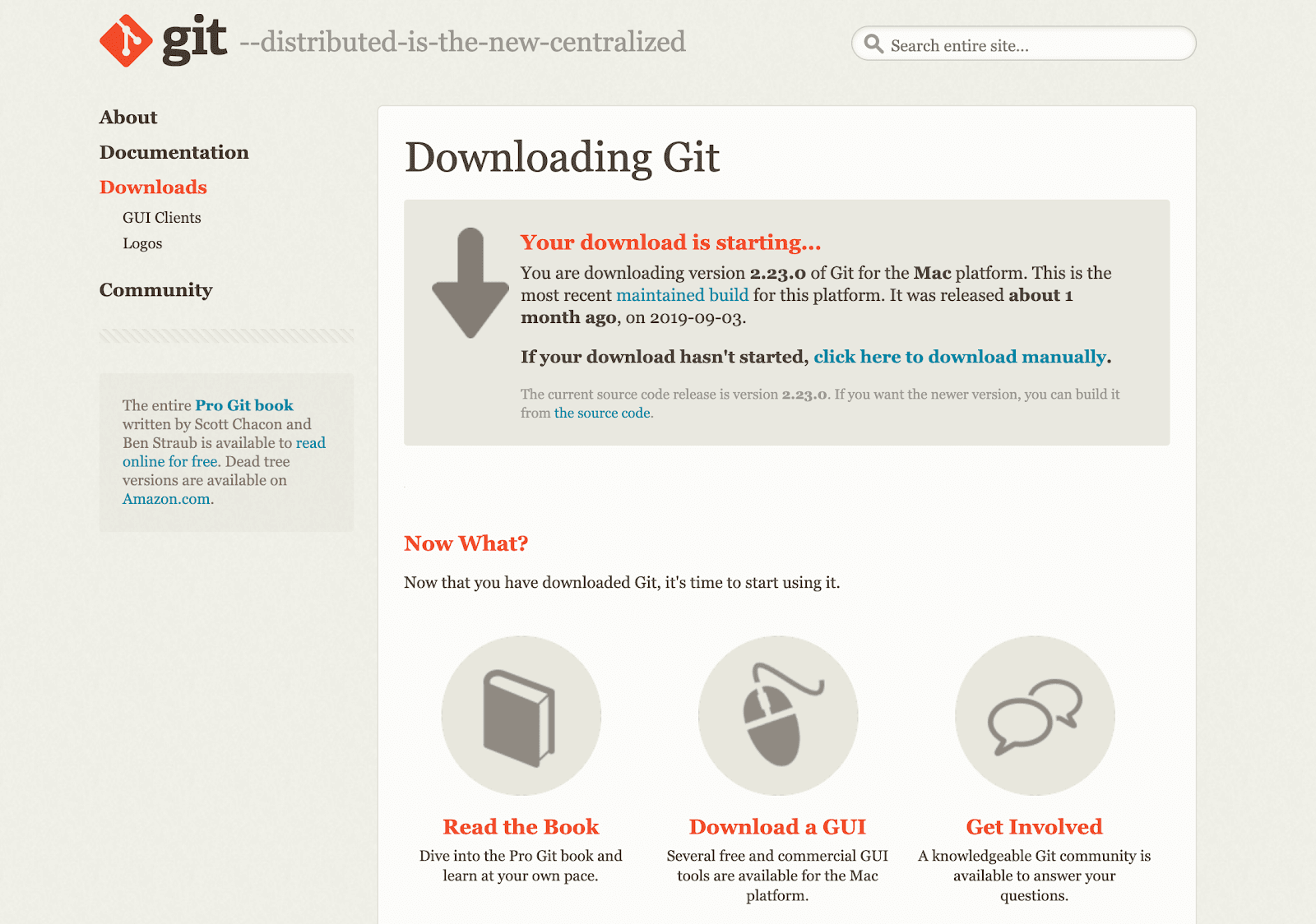 Download af git