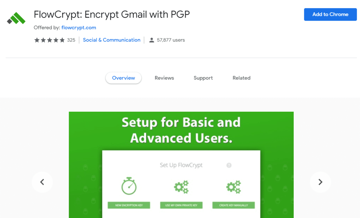 FlowCrypt Gmail-udvidelse