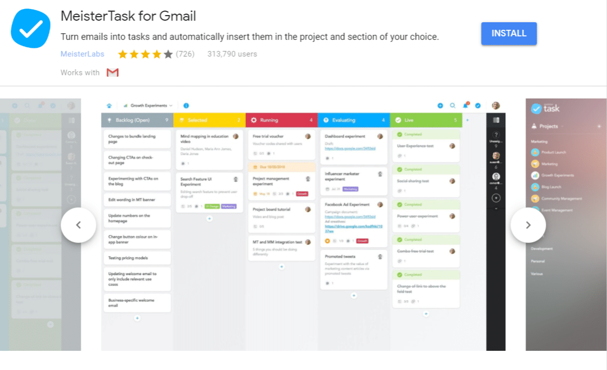 MeisterTask til Gmail add-on