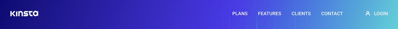 Kinsta-webstedets primære navigationsmenu