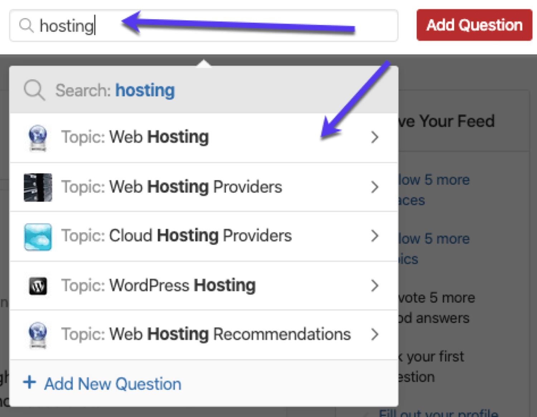Find hurtigt niche relevante spørgsmål, der skal besvares på Quora