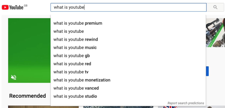 YouTube-søgning fungerer som Google