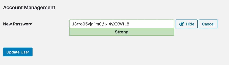 Generer password
