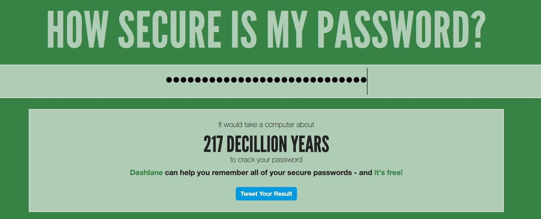 Hvor sikker er min password?