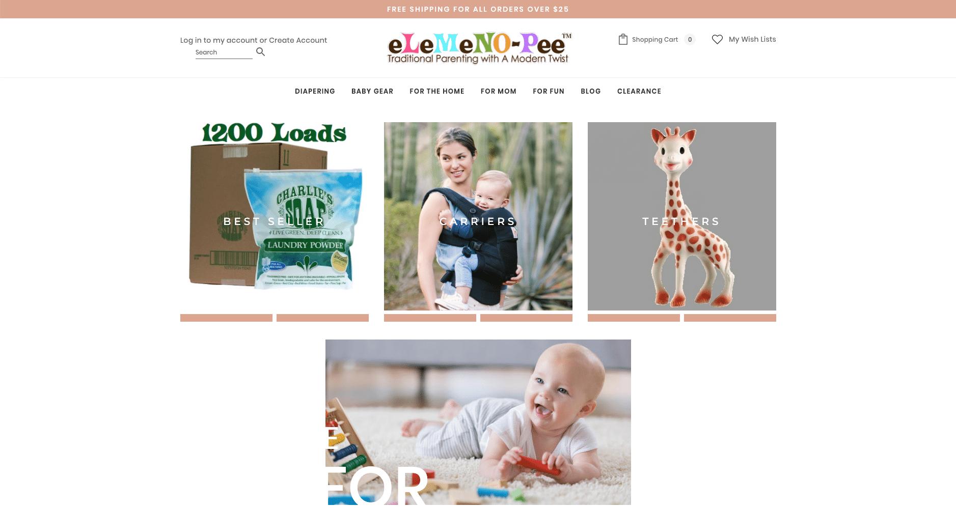 eLeMeNO-Pee, moderne produkter til forældre