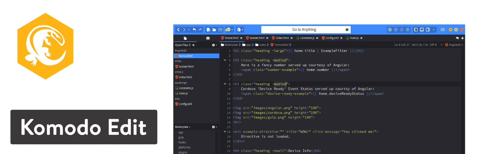Komodo Editor teksteditor