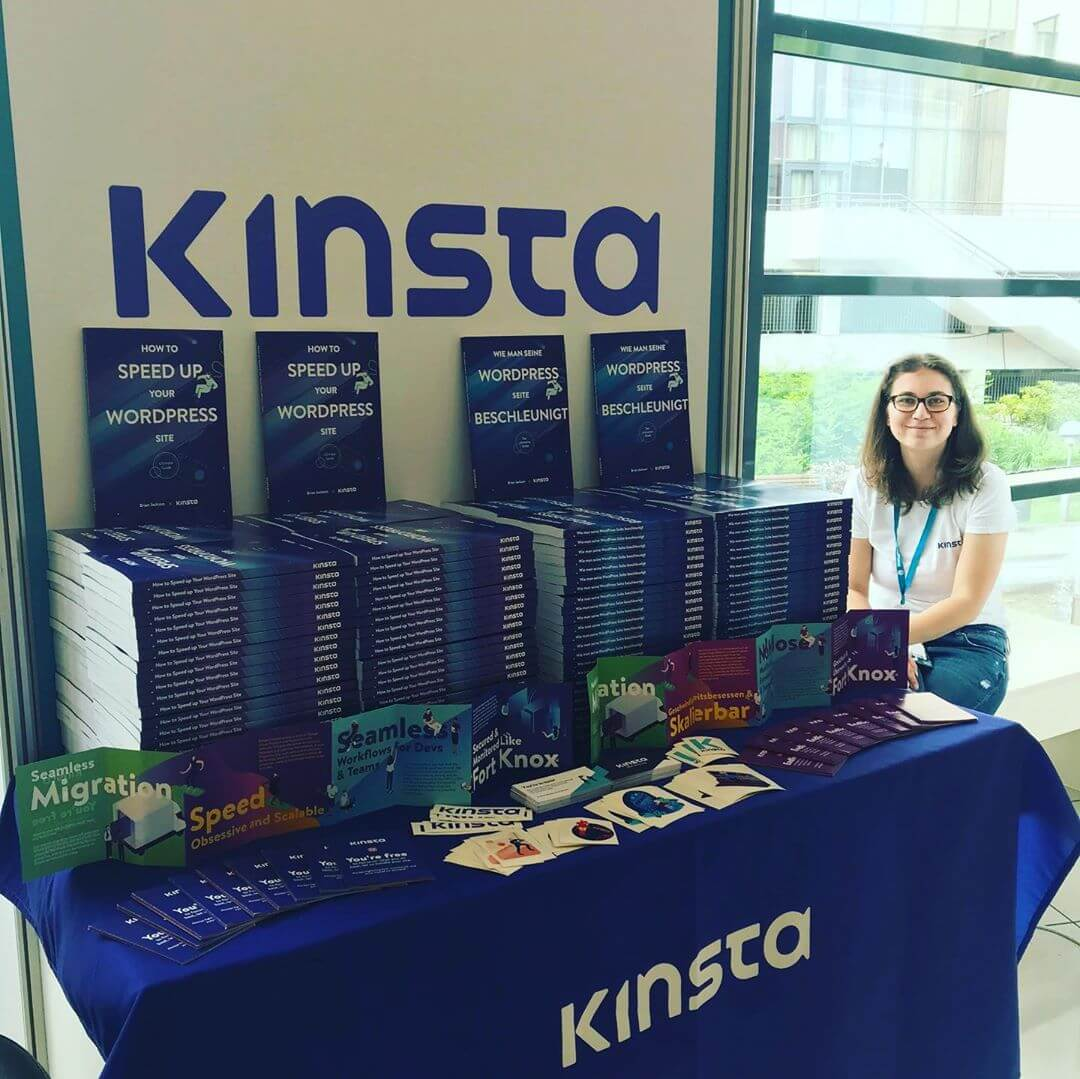 The Kinsta booth at WordCamp Europe