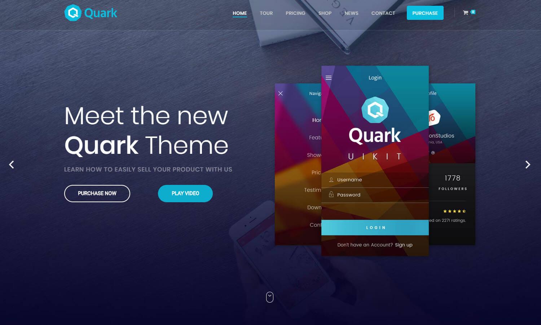 Quark captura de pantalla